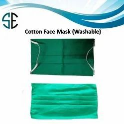 Reusable Green Cotton Face Mask