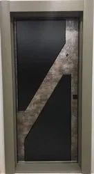Black Stylish Flush Door