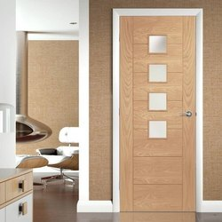 Brown Interior Office Wooden Doors