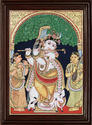 Traditional Krishna Tanjore Painting