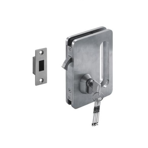 Stainless Steel Glass Sliding Door Lock With Strike Plate Rs 3000