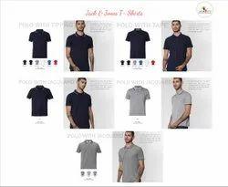 Cotton Collar Neck Jack & Jones T-Shirts