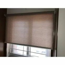 Printed Cotton Vinyl Window Blind, For Office