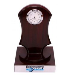 Wooden Table Clock, Shape: Round