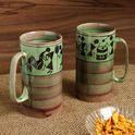 Two To Tango' Warli Hand-Painted Beer & Milk Mugs