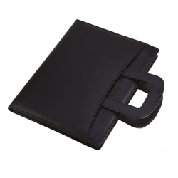 Leatherette Handle Black Folder
