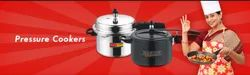 Silver And Black Pressure Cookers