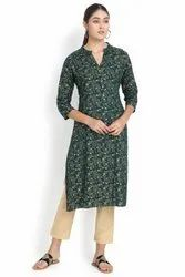3/4th Sleeves Rayon Kurti