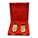 Silver And Gold Plated Shoe Set