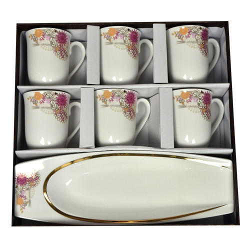 White Cup Plate Set For Home Rs 1375