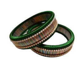 Festive Wear Silk Thread Bangle
