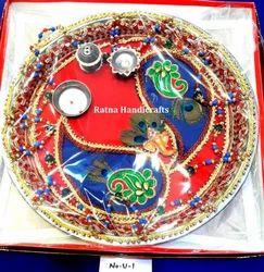 Ratna Religious Decorated Pooja Thali
