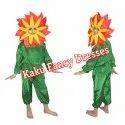 Kids Red Flower Fancy Dress Costume