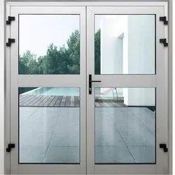 Aluminium Glass Hinged Double Door