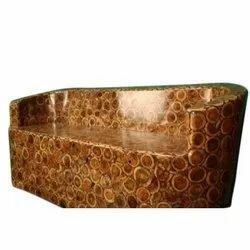 Natural Furniture 3 Seater Antique Teak Wood Sofa