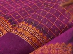 Party Wear Cotton Butta Saree, 6 M (with Blouse Piece), Machine Made