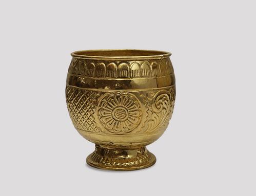 Golden Brass Planter Lepakshi Handicrafts Emporium Id 19113410448
