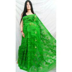 0782844d95 Green Printed Dhakai Jamdani Saree, Rs 1600 /piece, Pal Sarees   ID ...