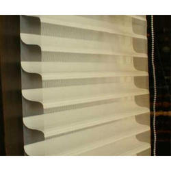 Fabric White Horizontal Contour Blinds