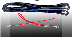 Black And Red And Blue Battery Connector Wire