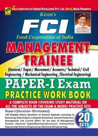 Kiran Prakashan FCI Book FCI Management Trainee Paper in