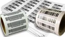 Paper White Barcode Stickers, Packaging Type: Roll