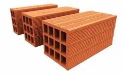 Blocks Rectangular CLAY POROTHERM HOLLOW BLOCK, Size: 16 X 6 X 8