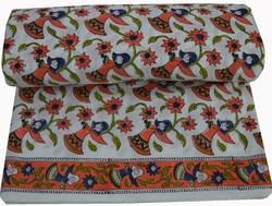 Hand Block Printed Cotton Fabric Sanganeri Doll Print