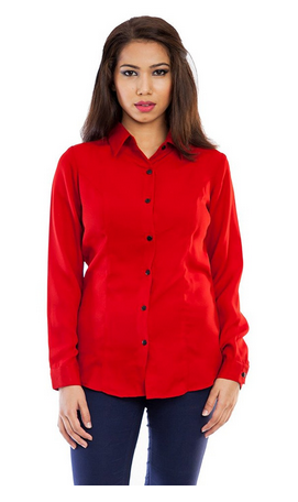 c98d917b8983d Femninora Womens Red Polyester Shirt