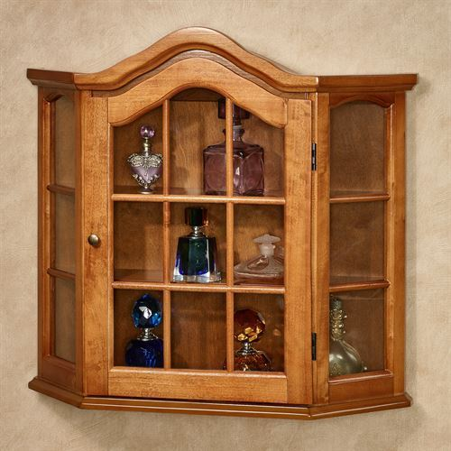 Brown Wall Mounted Curio Cabinet Rs