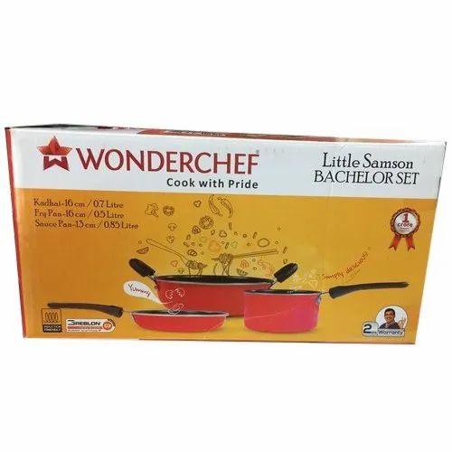 Wonderchef Little Samson Bachelor Induction Cookware Set Set