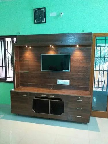 Pvc Tv Showcase Pvc Tv Cabinets Tv Unit Pvc Tv Online: Finished Wall Mounted Wooden TV Showcase, For Home, Rs