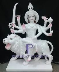Durga Marble Sculpture Nicely Handmade