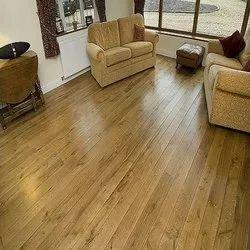 Brown Solid Teak Wooden Flooring, Finish Type: Matte