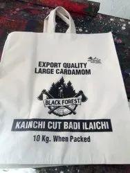 Printed Folding Cotton cardamom bag, Capacity: 10 Kg