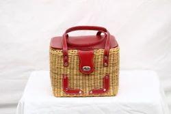 Cane Picnic Basket 10 x 8 x 8 (Inch)