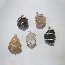 Wire Wrap Tumble Pendants