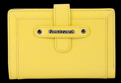 Fastrack Girls Leather Yellow Wallet