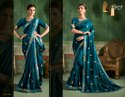 Fancy Navy Blue Party Wear Sarees