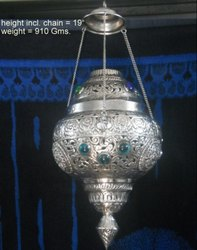 White Metal Hanging Lamp