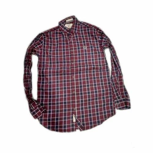e2c84bff6 Mens Cotton Check Shirts, Size: M, L & XL, Rs 310 /piece | ID ...