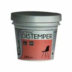 Colorchem Matt Acrylic Distemper Paint, For Painting, Packaging Type: Bucket