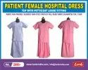 Patient Female Hospital Dress Top With Petticoat Loose Fitting