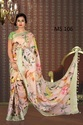 Digital Print Linen Saree