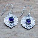 925 Sterling Silver Jewelry Amethyst Gemstone Handmade Earring We-5429