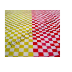 Red And Yellow Printed Woven Open Flat Fabrics