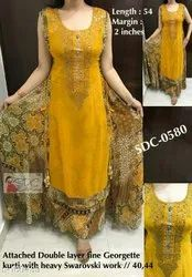 Ethnic Wear Sleeveless Womens Clothing for Female