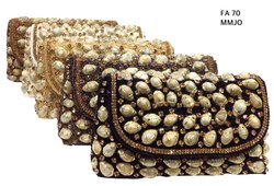 Female Handmade Fancy Jute Beaded Clutch Bag FA 70