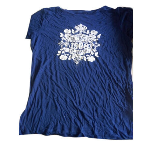 Small And Large Blue Fancy Printed T Shirt