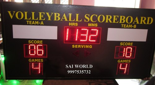 Electronic LED Score Board, For Remote Opperated, Shape: Rectangle